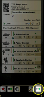 Rommel has slow foot infantry in his formation which needs to be thrown out. Click the reorganize button.